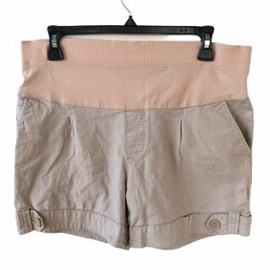 A.N.A. Khaki Maternity Shorts Size Small